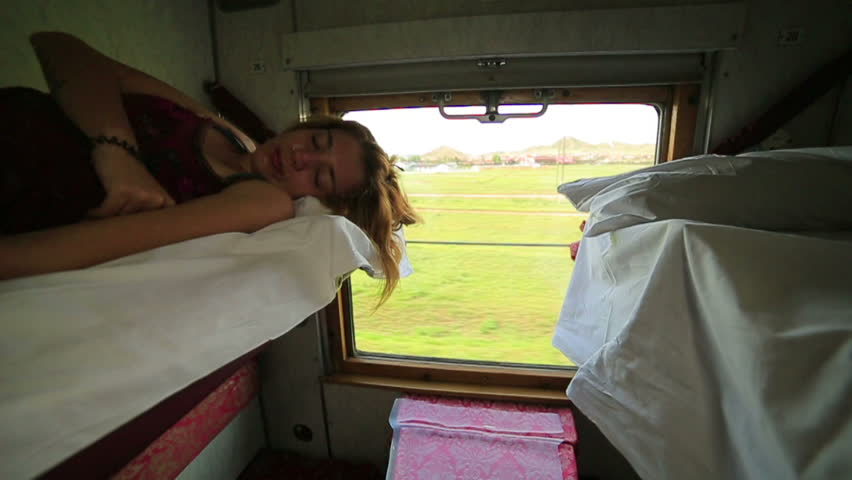 Stock Video Clip Of Woman Sleeping During Trans Siberian Train Journey,  Shutterstock-2120