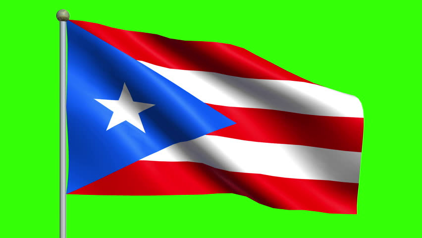 Close up of waving flag with atletico madrid football club logo flag of puerto rico animation loop hd stock video clip voltagebd Gallery