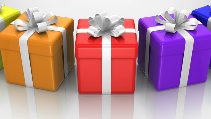 Gift boxes white background loop stock footage video 5092040 gift boxes white background loop hd stock video clip negle Images