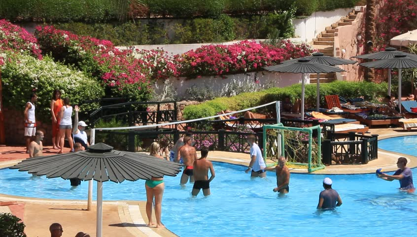 Hotel Pool With People EGYPT SOUTH SINAI SHARM EL SHEIKH SEPTEMBER 22