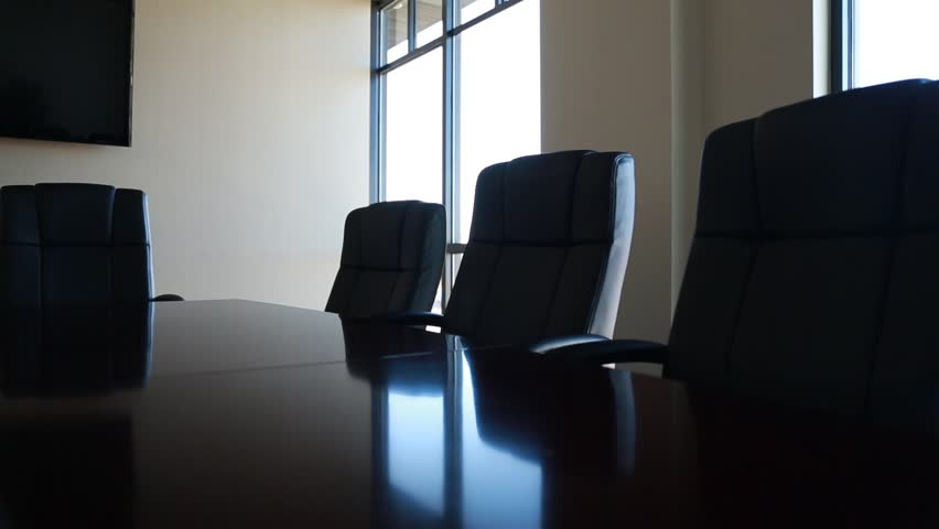 Office Conference Room Chairs Dolly Shot