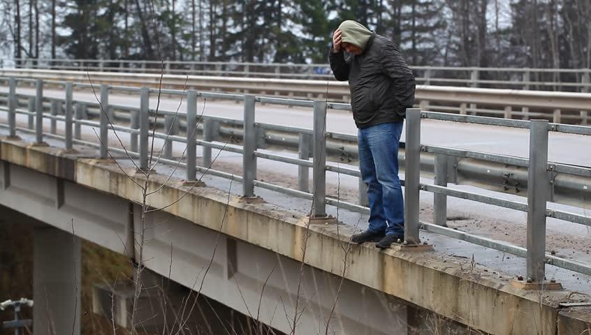 Image result for man on bridge