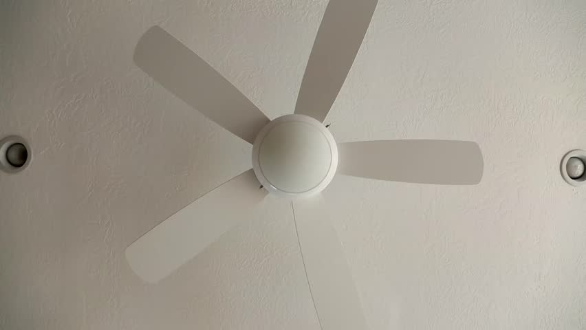 A Ceiling Fan Inside Stock Footage 100 Royalty Free 5140289 Shutterstock