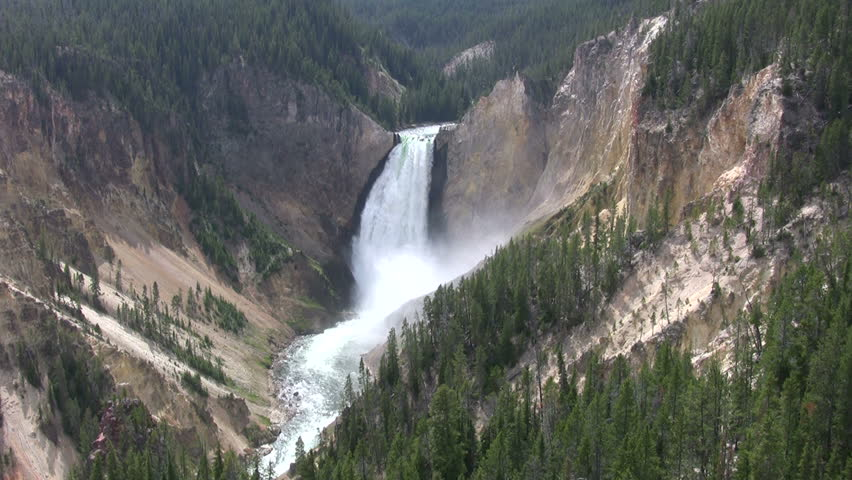 the Lower Falls at Yellowstone Park