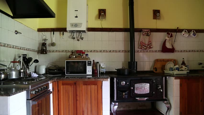 Old Oven Sotve In A Stock Footage Video 100 Royalty Free