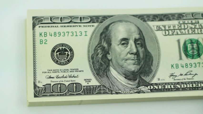 American hundred dollar bills/dollars background | Shutterstock HD Video #5155799