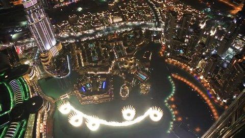 DUBAI, UAE - NOVEMBER 13: The Address Hotel in the downtown Dubai area overlooks the famous dancing fountains on November 13, 2012 in Dubai, UAE.