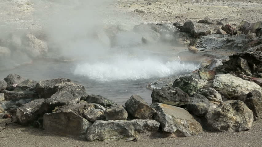 Hot springs, Furnas, San Miguel island, Azores, Portugal   Shutterstock HD Video #5177879