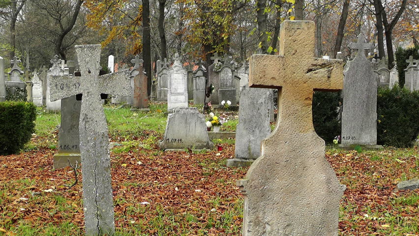 Christian Catholic Cemetery in Europe | Shutterstock HD Video #5185256