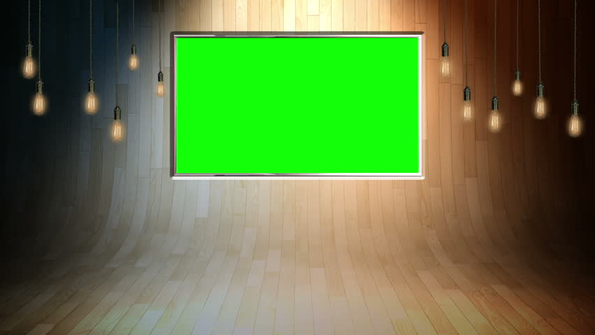 This background is designed to be used as a virtual background in a chroma key video production.  The studio is setup as a news studio backdrop or broadcasting studio layer in a video editor.    | Shutterstock HD Video #5211809