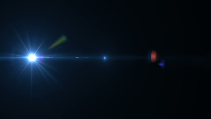 Fancy Light Effects In A Dark Background Stock Footage: Lens Flare Effect On Black 스톡 동영상 비디오(100% 로열티프리) 5215709