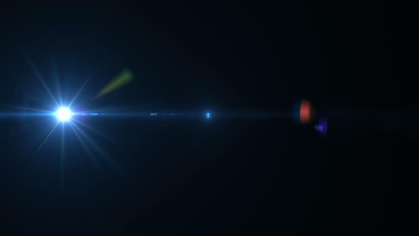 Lens Flare Effect On Black Background (tac Light