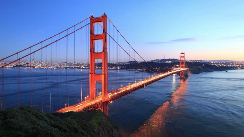 Time Lapse - Golden Gate Bridge at Sunset- 4K, Ultra HD, UHD resolution | Shutterstock HD Video #5221391