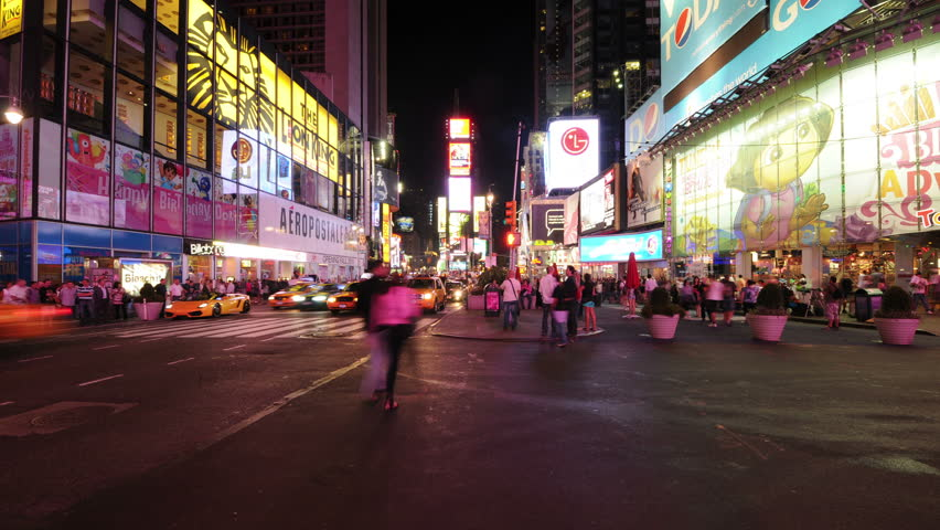 NEW YORK - CIRCA 2011: Time Lapse of Times Square - New York Circa 2011 - 4K, UHD, Ultra HD resolution