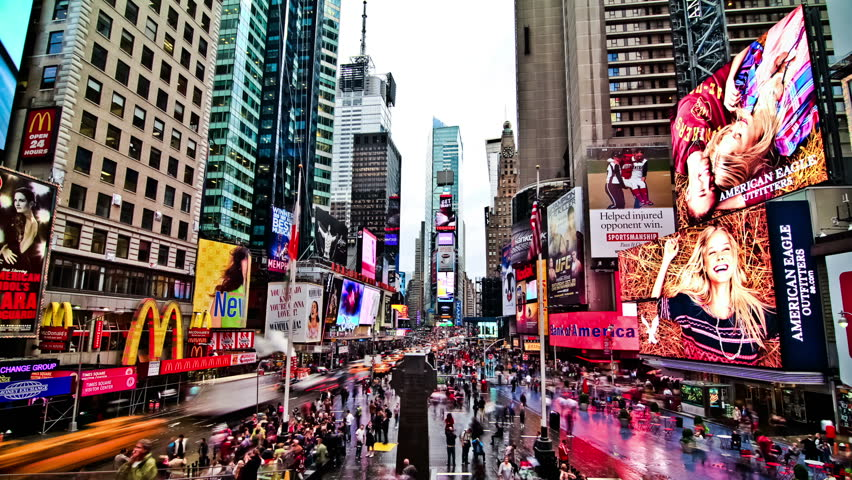 NEW YORK - OCT 14: Times Square time lapse on October 14th 2011.   Shutterstock HD Video #5263439