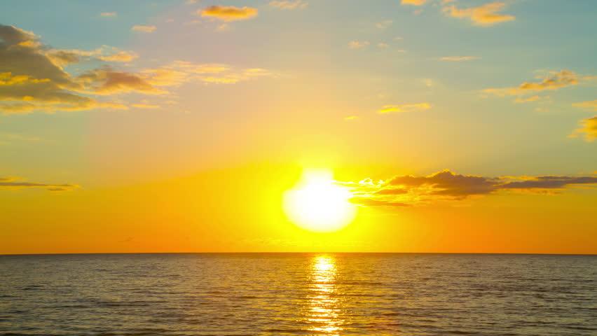 sunset on the sea, 4K timelapse