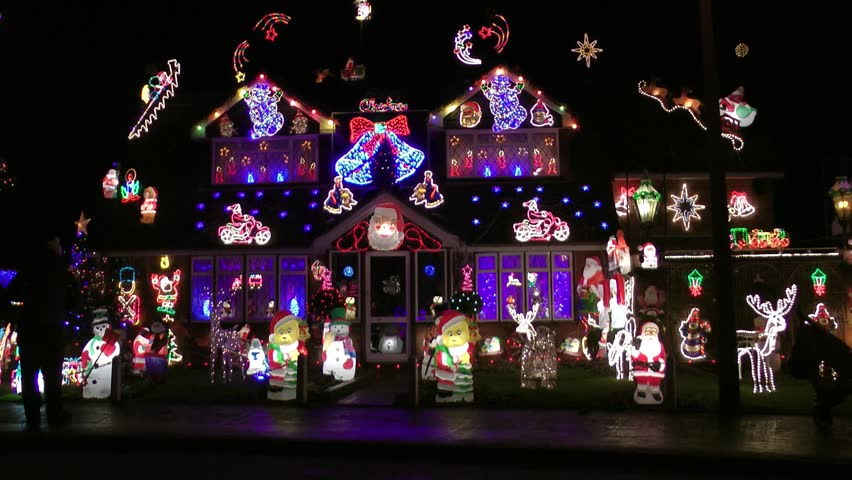 Colorful Christmas Lights On House.House Decorated With Colorful Christmas Stock Footage Video 100 Royalty Free 5290499 Shutterstock