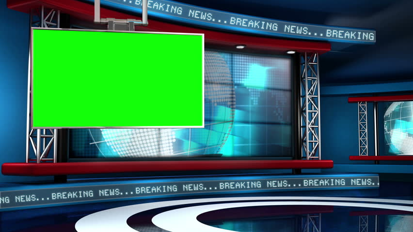 This looping news set is the perfect backdrop for any green screen or chroma key video production.  It features a  clean and modern layout with subtle animation and imagery. | Shutterstock HD Video #5317139