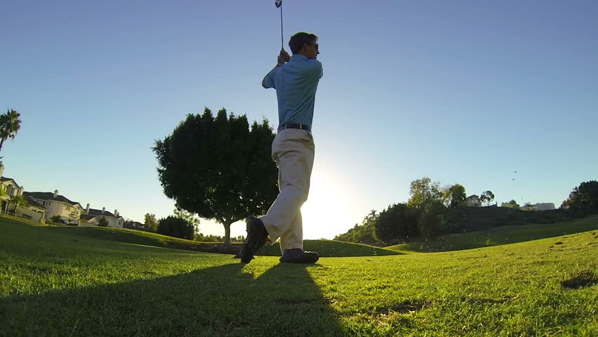 Header of golfer