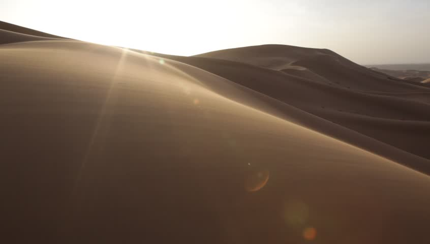 Desert dunes during a windy day. Erg Chebbi, Morocco. HD1080p Canon 5Dmk2 | Shutterstock HD Video #5343209