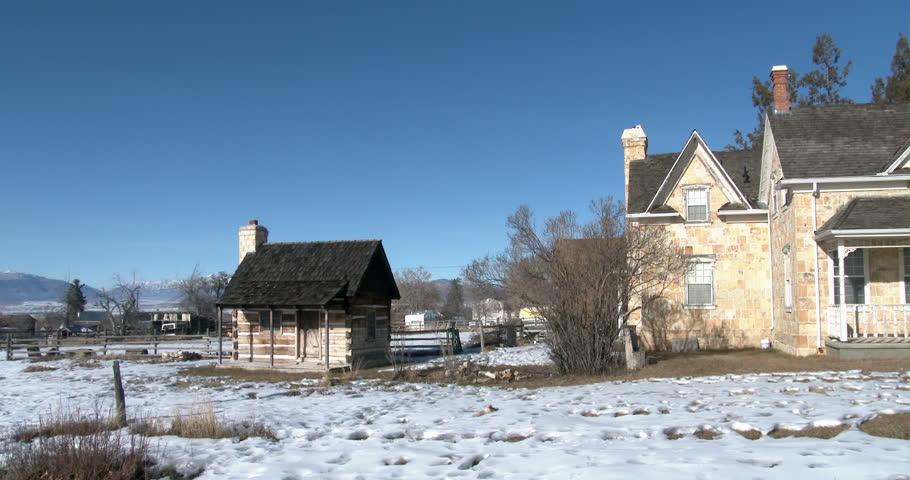 Spring City Utah Jan 2014 Pioneer Stone Mansion Home
