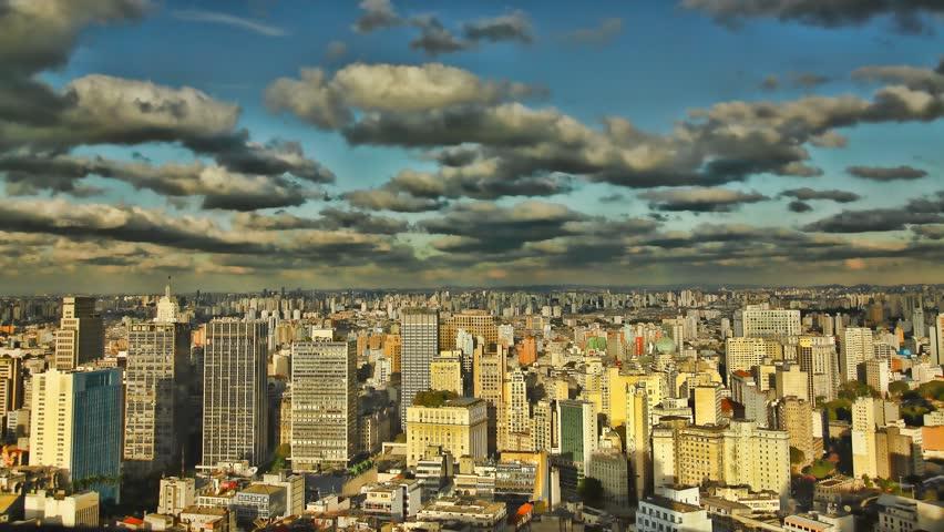 Sao Paulo Brazil skyline sunset HD or 4K click here time lapse | Shutterstock HD Video #5364611