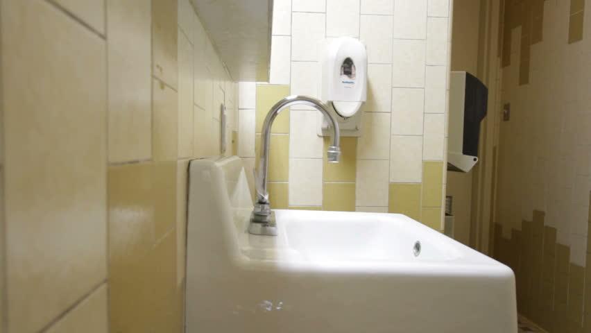 Public Bathroom Sink Stock Footage Video Shutterstock