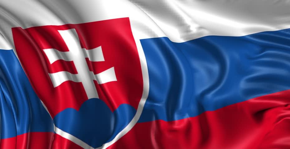 Flag of Slovakia Beautiful 3d animation of Slovakia flag in loop mode