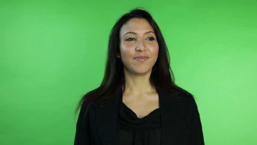 Business woman isolated on green screen fingers crossed | Shutterstock HD Video #5377229