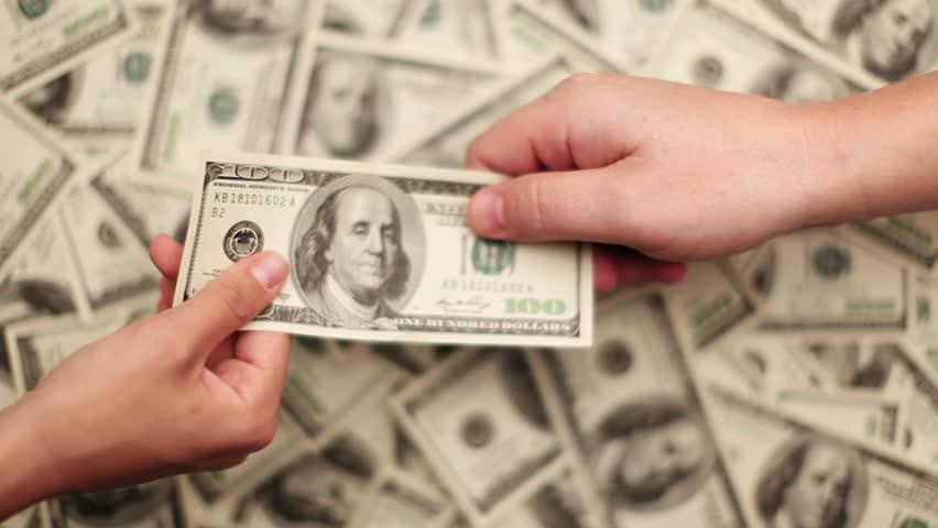 Giving Money  | Shutterstock HD Video #5392469