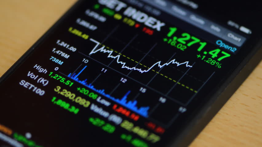 Stock market on smart phone   Shutterstock HD Video #5411159