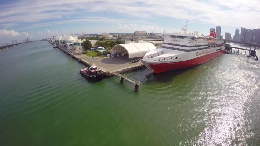 MIAMI JANUARY Aerial Footage Of The Resorts World Bimini - Bimini superfast cruise ship