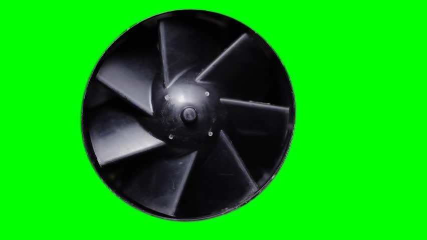 Fan turbine behind a green screen | Shutterstock HD Video #5443559