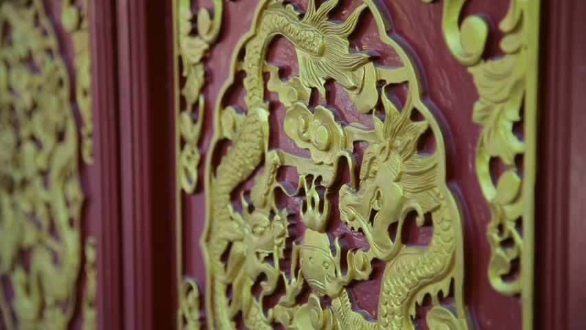 dragon Painted Carved in temple of china