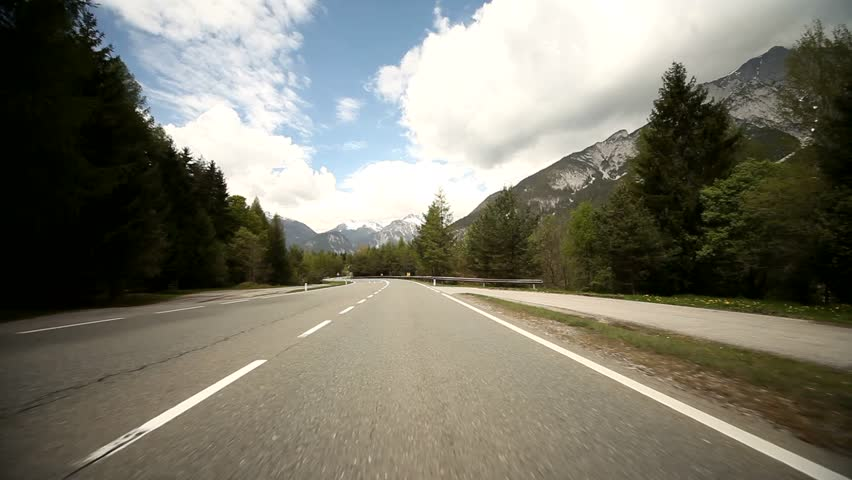 Video Footage Of Driving On A Highway In The Alps In ...