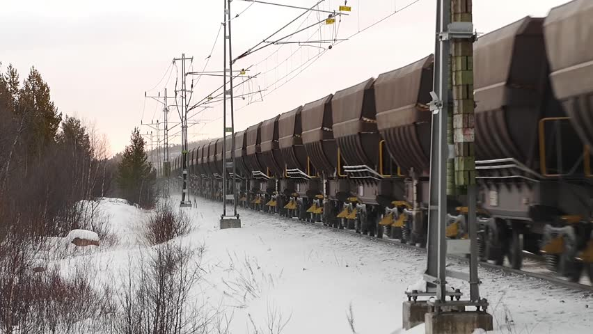 Infinite freight train. clip loops,i.e last frame and first frame is the same.