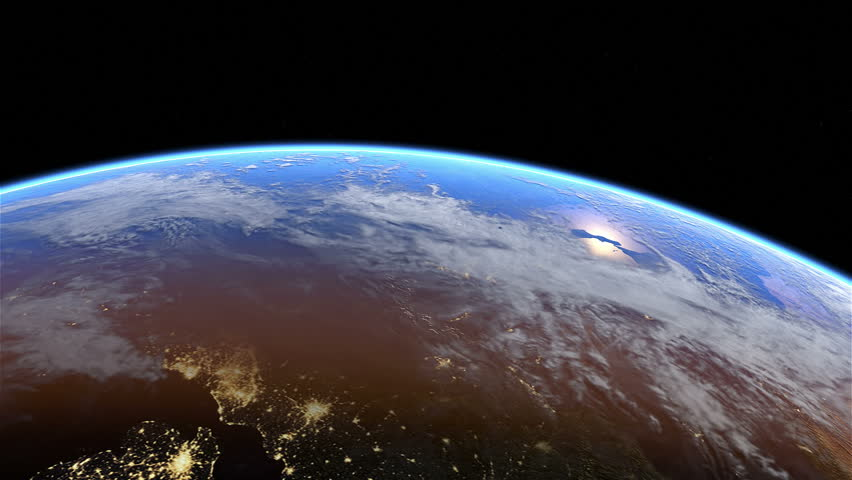Europe at night. Extremely detailed image, including elements furnished by NASA. 3d animation with some light sources, reflections and post-processing. Earth maps courtesy of NASA