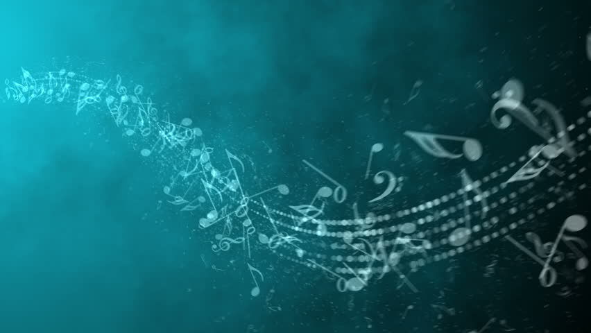 Animated background with musical notes