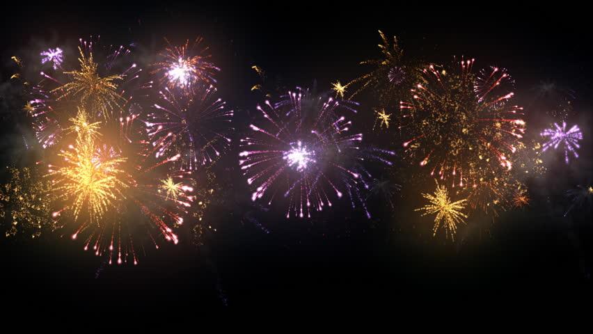 Animated Fireworks Display. Loop/cycle Stock Footage Video 5500829 ...