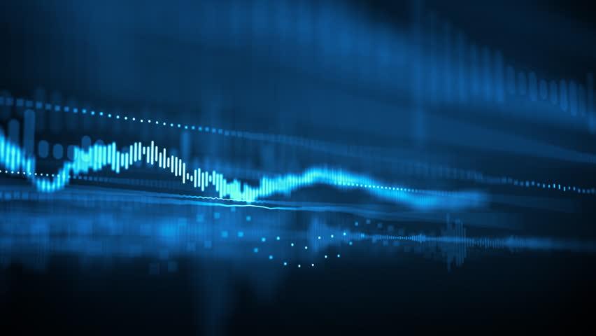 Animated background with audio elements