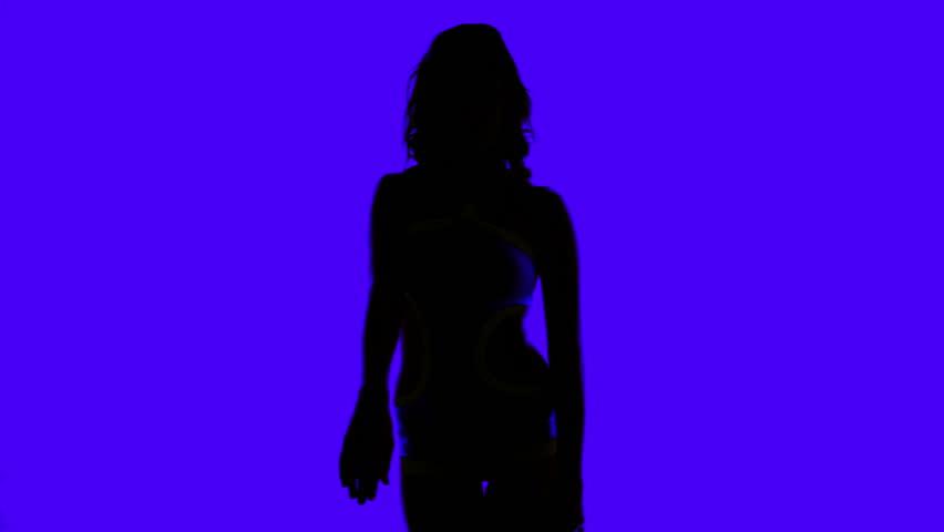 beautiful sexy disco dancer made into a shadow silhouette  #5507489