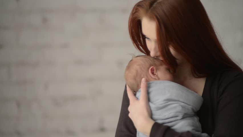 Little baby in mother arms. FullHD, 1080p. | Shutterstock HD Video #5530409