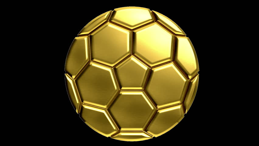 cb138322f Golden Soccer Ball with Alpha Stock Footage Video (100% Royalty ...
