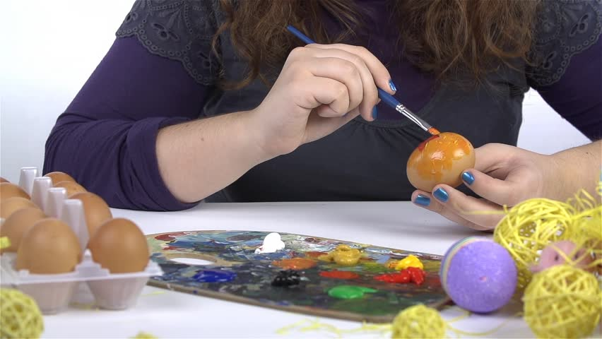 Painting on Egg for Easter Day | Shutterstock HD Video #5595539