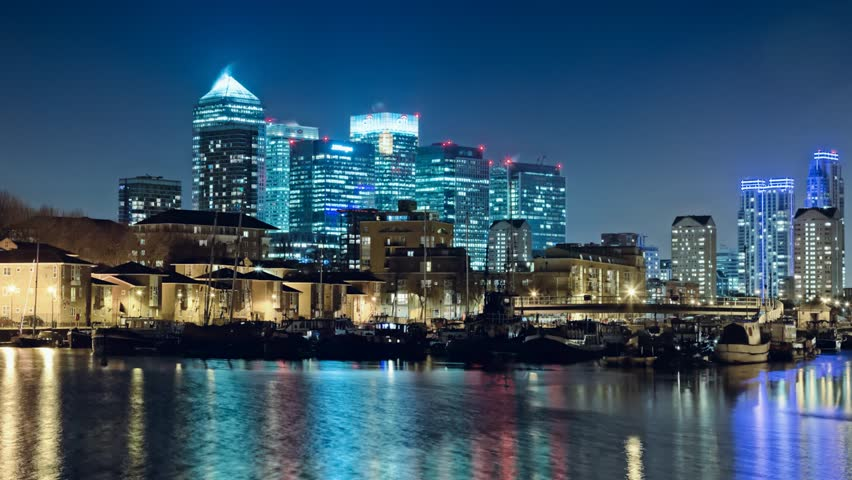 Canada Water, Canary Wharf, Timelapse 1920x1080, 1080p