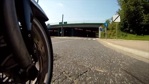 Motorcycle wheel view