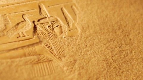 Sands blow away to reveal ancient Egyptian carving