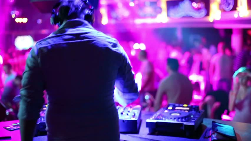 Rear View of Dj Which Stock Footage Video (100% Royalty-free