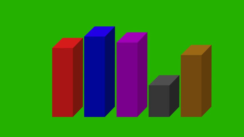 Animated 3d bar graph green screen stock footage video 5691059 animated 3d bar graph different colors green screen hd stock video clip ccuart Images