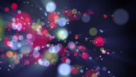 wonderful video animation with moving bubbles and lights, 4096x2304 loop 4K